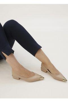 Marjin Bej Kadın Adopa Topuklu Ayakkabı Ayakkabı(121099367)