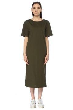 Moncler Kadın Haki Çıtçıt Detaylı Midi Elbise XS EU(114438241)