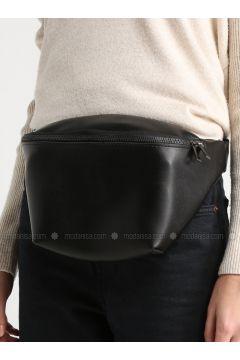 Black - Clutch - Bum Bag - MOON(110332600)
