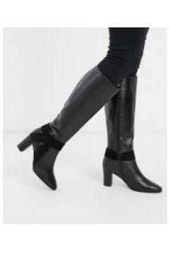Karen Millen - Florence - Stivali al ginocchio in pelle nera-Nero(122355173)