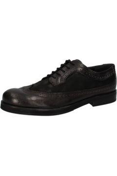 Chaussures Crime London élégantes noir cuir cuir suédé AE321(115399446)