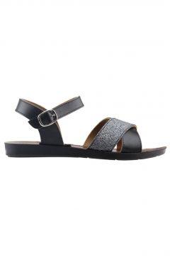 Ayakland Siyah Kadın Sandalet(119131617)