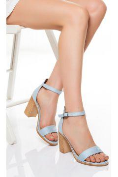 derithy -klasik Topuklu Ayakkabı-mavi Süet(120829378)