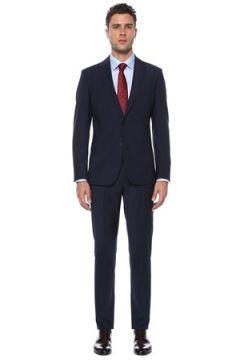 Network Erkek Slim Fit Drop 6 Lacivert Yün Takım Elbise 52-6N EU(117653260)