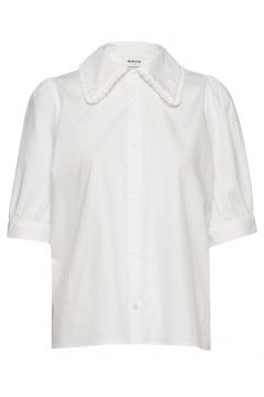 Tille Top Blouses Short-sleeved Weiß MODSTRÖM(116950900)