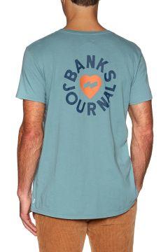 T-Shirt à Manche Courte Banks Heart Rings - Smoke Blue(116373977)