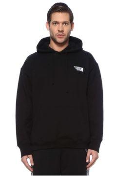 Vetements Erkek Siyah Kapüşonlu Logolu Sweatshirt S EU(126589489)