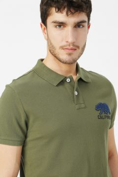 Aeropostale Haki Polo T-Shirt(113995306)