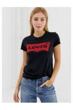Levi\'s - Perfect - T-Shirt mit Fledermaus-Logo - Schwarz(95028015)