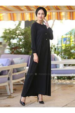 Black - Crew neck - Dresses - İnşirah(110319897)