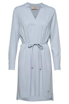 Lipa Cuba Dress Kleid Knielang Blau MOS MOSH(108839140)
