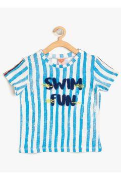 Koton Çizgili Mavi T-Shirt(113958999)