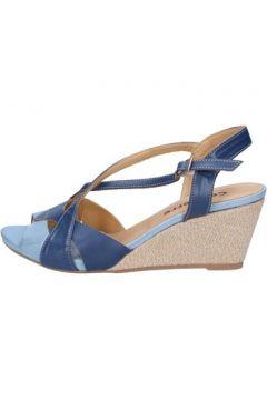 Sandales Calpierre sandales bleu cuir BZ808(115399020)
