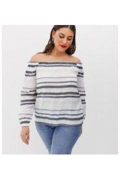 Vero Moda Curve - Schulterfreie Bluse mit Streifen - Mehrfarbig(91511862)