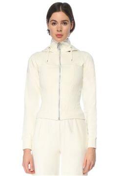 Lol Kadın Aspen Ekru Kapüşonlu Fermuarlı Sweatshirt Bej S/M EU(126468652)