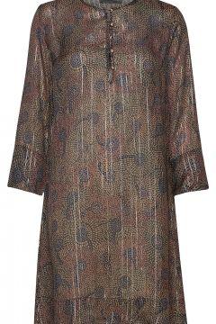 Brisa Peacock Dress Kleid Knielang Bunt/gemustert MOS MOSH(116334579)