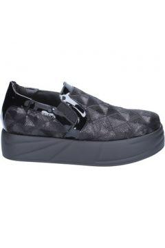 Chaussures Jeannot slip on mocassins noir paillettes BX129(115442486)