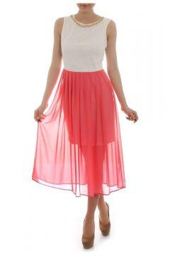 Caramel Yaka Detaylı Kolsuz Elbise(114209442)