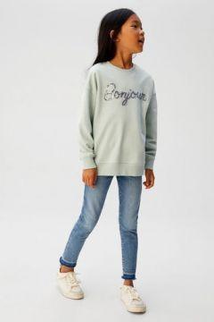 Pul yazılı sweatshirt(107403576)