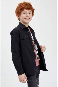 DeFacto Erkek Çocuk Kolu Katlanabilir Jean Gömlek(119060028)