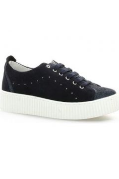 Chaussures So Send Baskets cuir velours(115612986)