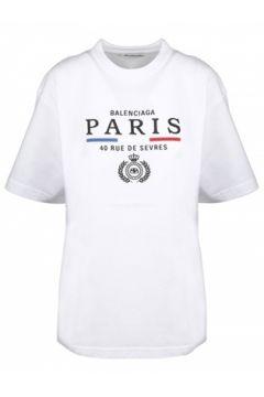 Balenciaga Kadın Beyaz Logo Baskılı T-shirt XS EU(114439113)