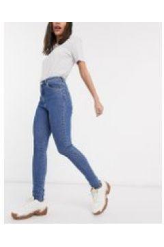 Abrand - Jeans skinny a vita alta blu lavaggio scuro(120356044)
