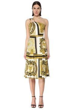 Versace Kadın Barocco Mosaic Tek Omuzlu Midi Elbise 42 IT(127770431)