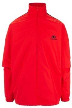 Balenciaga Erkek Kırmızı Balıkçı Yaka Şeritli Çift Kol Detaylı Mont 44 IT(114438656)