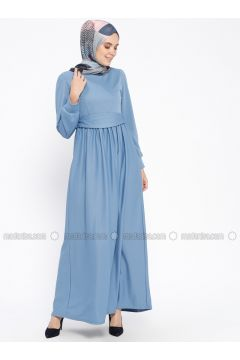 Blue - Baby Blue - Crew neck - Unlined - Dresses - PINK APPLE(110313832)
