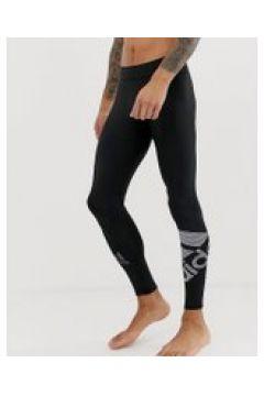 adidas - Leggings tecnici neri con logo - Nero(95040768)