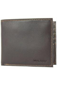 Porte-monnaie Wylson Porte cartes ultra plat en cuir mat Rio Marron(115545337)