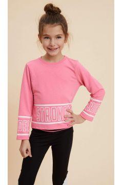 DeFacto Kız Çocuk Yazı Baskılı Sweatshirt(119059751)