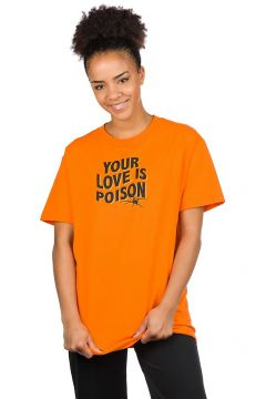 Broken Promises Poison Rose T-Shirt oranje(86495698)