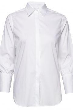 Larina Ribbon Shirt 7/8 Langärmliges Hemd Weiß MOS MOSH(116333817)