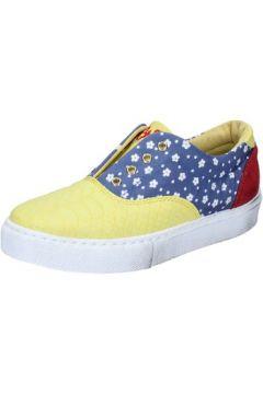 Chaussures 2 Stars sneakers jaune textile bleu daim BZ541(115394013)