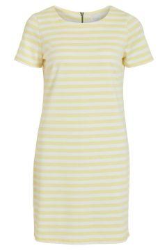 VILA Simple Robe À Manches Courtes Women yellow(111089315)