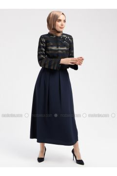 Navy Blue - Fully Lined - Suit - Armine(110337354)