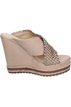 Sandales Femme Plus sandales beige cuir BT823(115442916)
