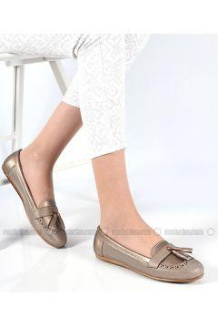 Beige - Flat - Flat Shoes - Sapin(110325846)