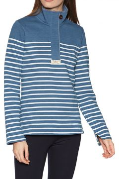 Joules Saunton Salt Damen Pullover - Blue Cream Stripe(100273574)
