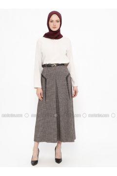 Maroon - Multi - Fully Lined - Viscose - Skirt - Tekbir(110335696)