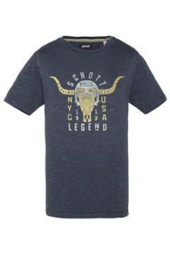 T-shirt Schott TSBRADY STEEL BLUE(127854750)