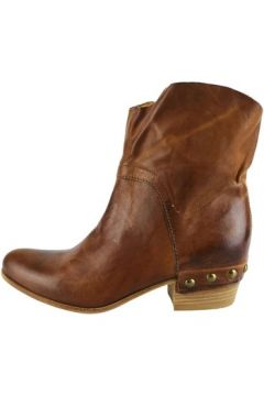 Bottines Vic bottines marron cuir AH807(115400537)