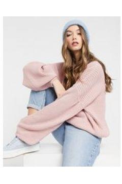 In The Style x Billie Faiers - Maglione lavorato con maniche a sbuffo rosa(122966105)