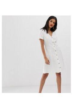 Vero Moda Tall - Kleid mit durchgehender Knopfleiste - Weiß(94155271)