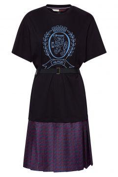 Hcw Monogram Tshirt, Kleid Knielang Blau HILFIGER COLLECTION(114163949)