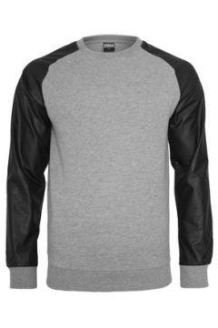 Sweat-shirt Urban Classics Sweat col rond à manches simili(127965873)