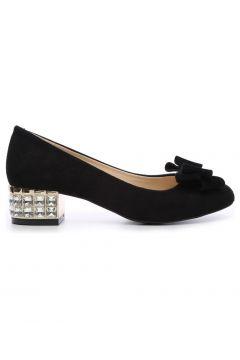 KEMAL TANCA Kadın Siyah Süet Topuklu Ayakkabı(110923113)