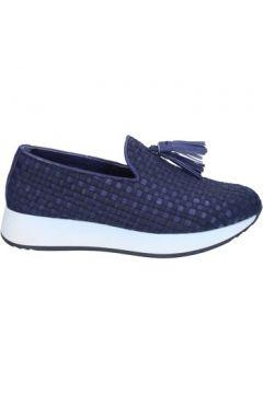 Chaussures Emanuélle Vee slip on mocassins bleu cuir textile BS22(115442214)